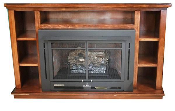 Buck Stove Manhattan fireplace with Black Prestige Mantel